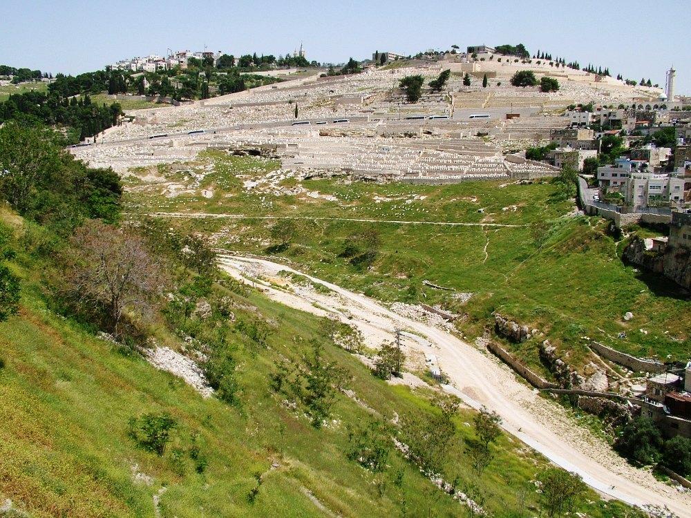 Восточный склон Города Давида и ущелье Кидрон