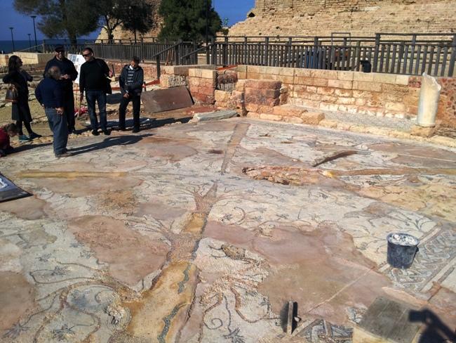 Мозаики Кейсарии - византийский период
