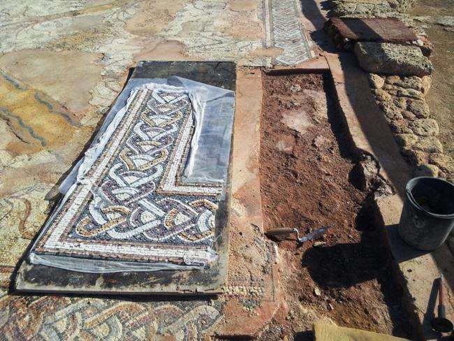 Реставрация мозаик Кейсарии