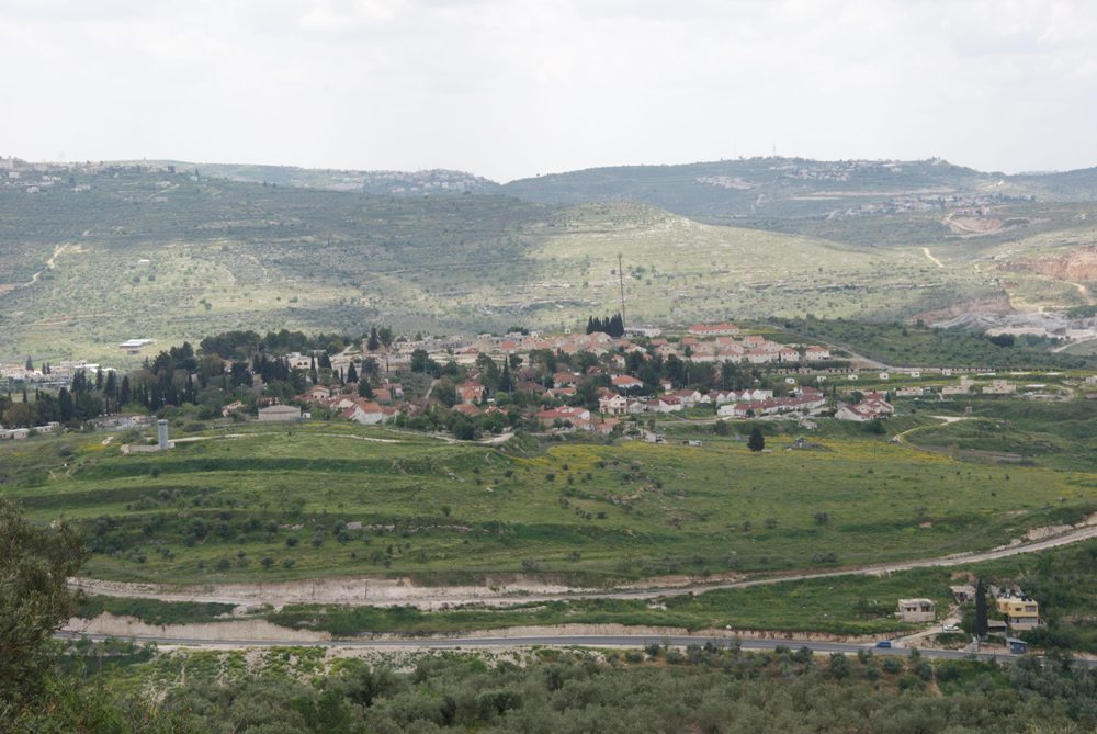 Вид на юг - еврейское поселение Шавей Шомрон