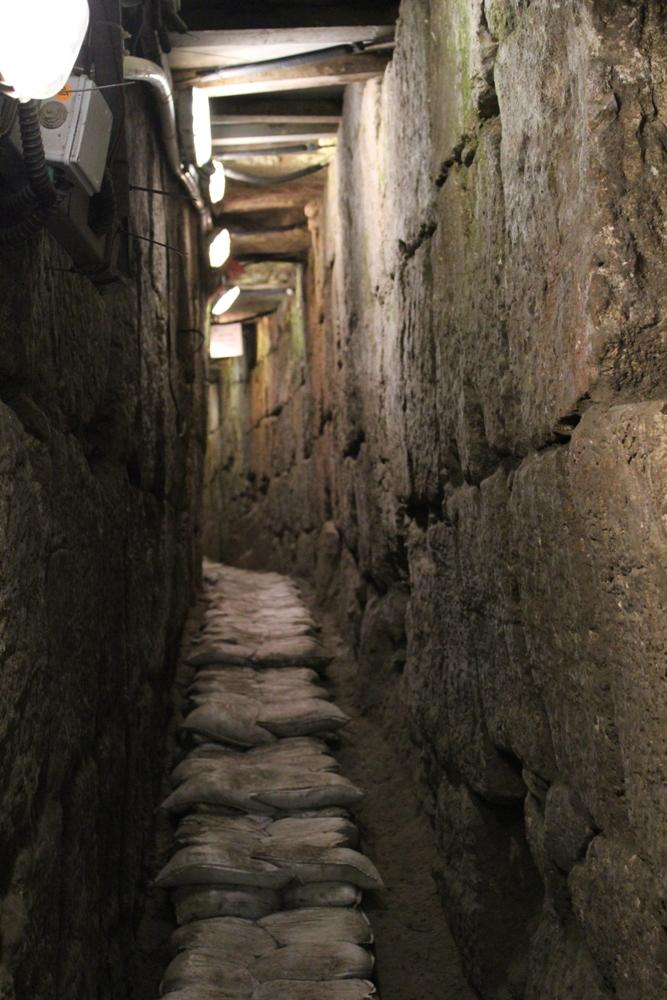 Подъем по центральному водостоку Иерусалима времен Второго Храма