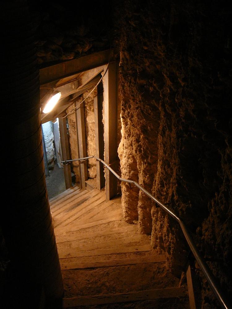 Спуск в туннель