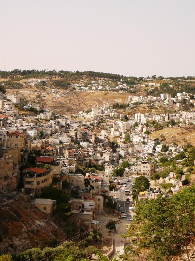 Долина Кидрон - между Городом Давида и деревней Силуан