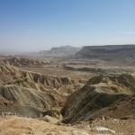 Ущелье Цин в Негеве, вид в сторону долины Арава