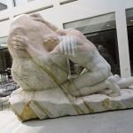 """Статуя """"разбивающих скалу"""", отель Эльма, Зихрон Яаков"""