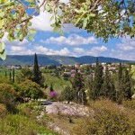 Бейт Шеарим - вид в сторону горы Кармель