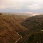 Ущелье Ткоа, вид в сторону Мертвого моря