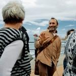 Во время экскурсии в Кейсарии - гид Арье Парнис