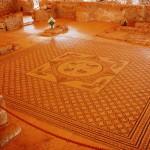 Мозаика синагоги Эйн Геди - центральная часть