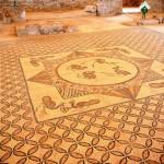 Центральный орнамент мозаики синагоги Эйн Геди