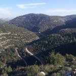 Над ущельем Сорек в горах Иерусалима