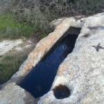 Вырубленные в скале приспособления в горах Иерусалима