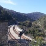 Железная дорога в ущелье Сорек в горах Иерусалима