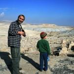 Во время экскурсии в Иудейской пустыни