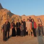 В центральном Негеве - восход солнца над кратером Рамон