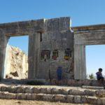 Руины древней синагоги на Мироне