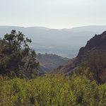 Ущелье Джелабун - Двора, Голанские высоты, вид на долину аХула и горы Нафтали