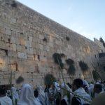 Суккот у Стены Плача - перед благословением коэнов