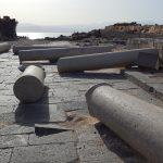 Разрушенные колонны Суситы на фоне Кинерета и Галилеи