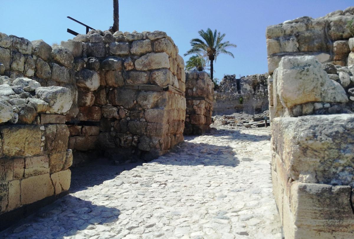 В воротак Мегидо времен Первого храма