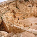 Круглые стены верхнего дворца в Иродионе