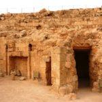 При входе в личную баню Ирода в верхнем дворце Иродиона