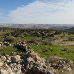 Центральный горный хребет Израиля, вид с Хурват Бургин