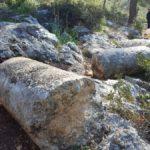 Римские милевые колонны, дорога Цезаря