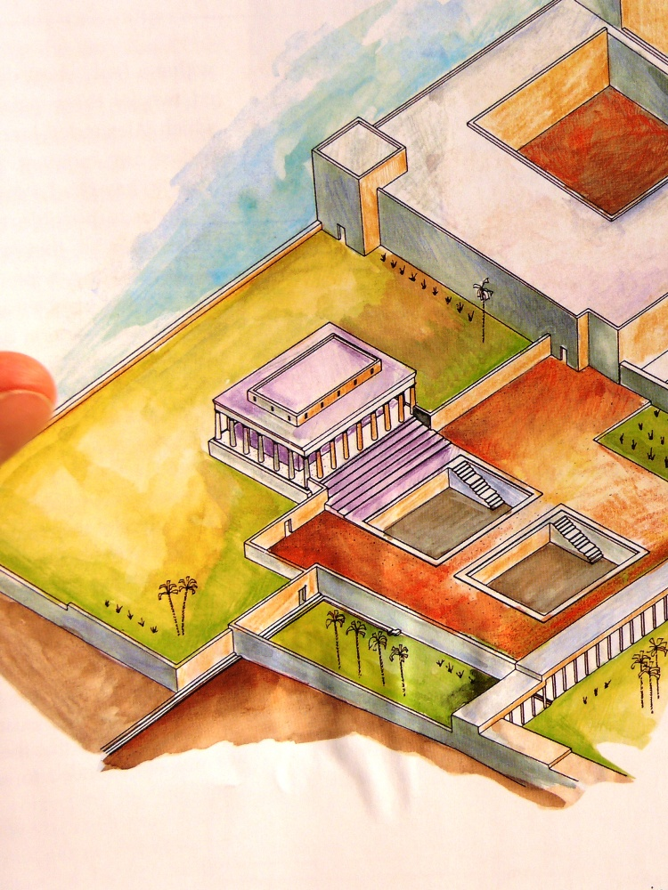 Из книги Эhуда Нецера об археологических раскопках во дворцах Йерихо