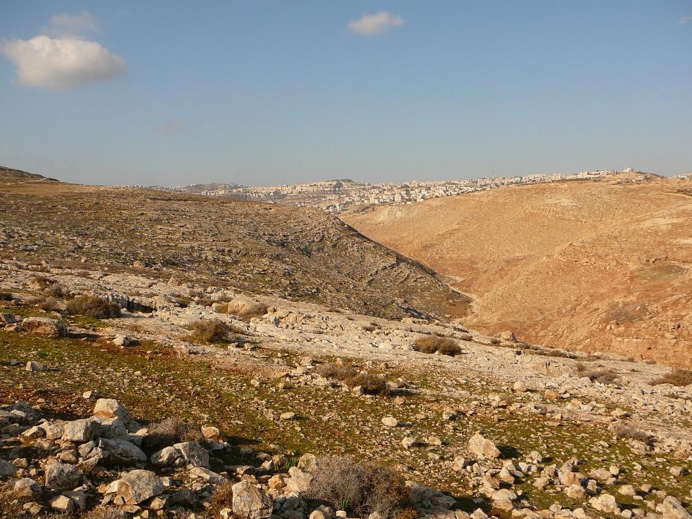 Вид в сторону района Неве Яаков и пригородов Рамалы