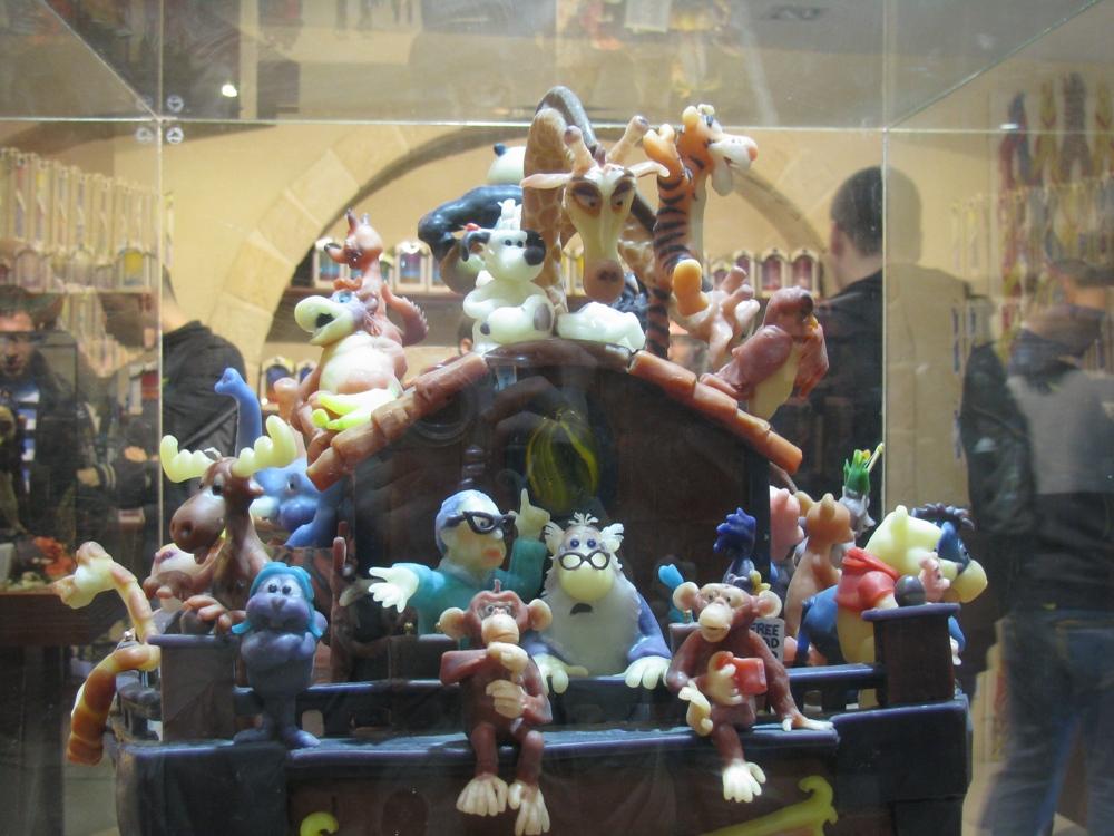 Ноев ковчег в магазине свечей в Цфате