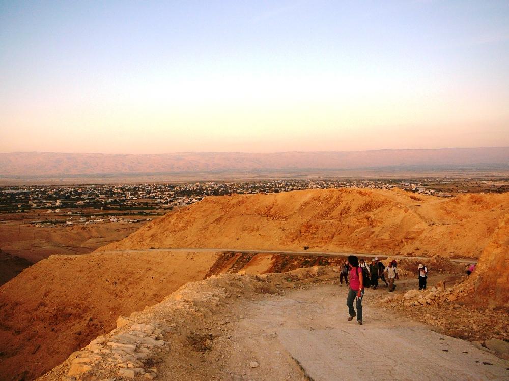 Начало подъема из Иерихона в Иерусалим
