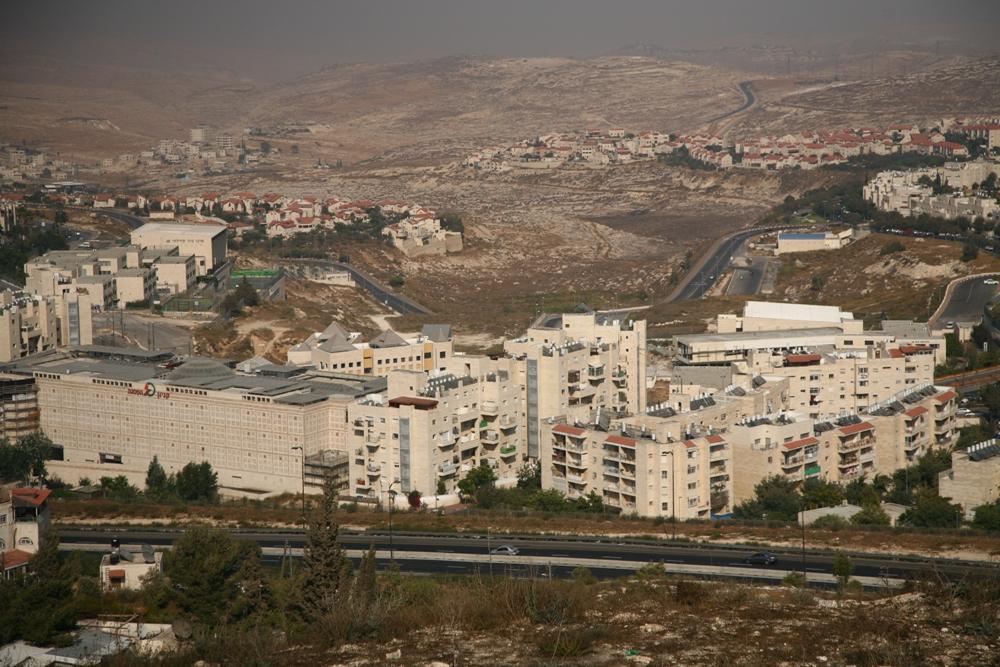 Каньеон Писгат Зеева и Иудейская пустыня - вид с Тель эль-Фуль