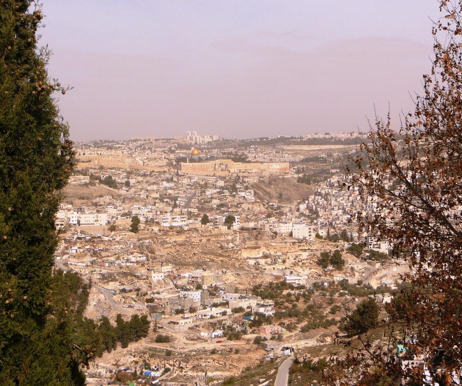 Вид на Древний Иерусалим и на Храмовую Гору с Армон а-Нацива