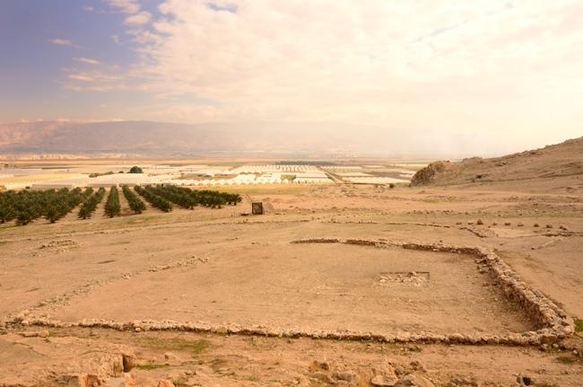 Вид сверху на Иорданскую долину