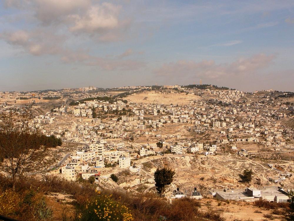 Масличная Гора и районы Восточного Иерусалима