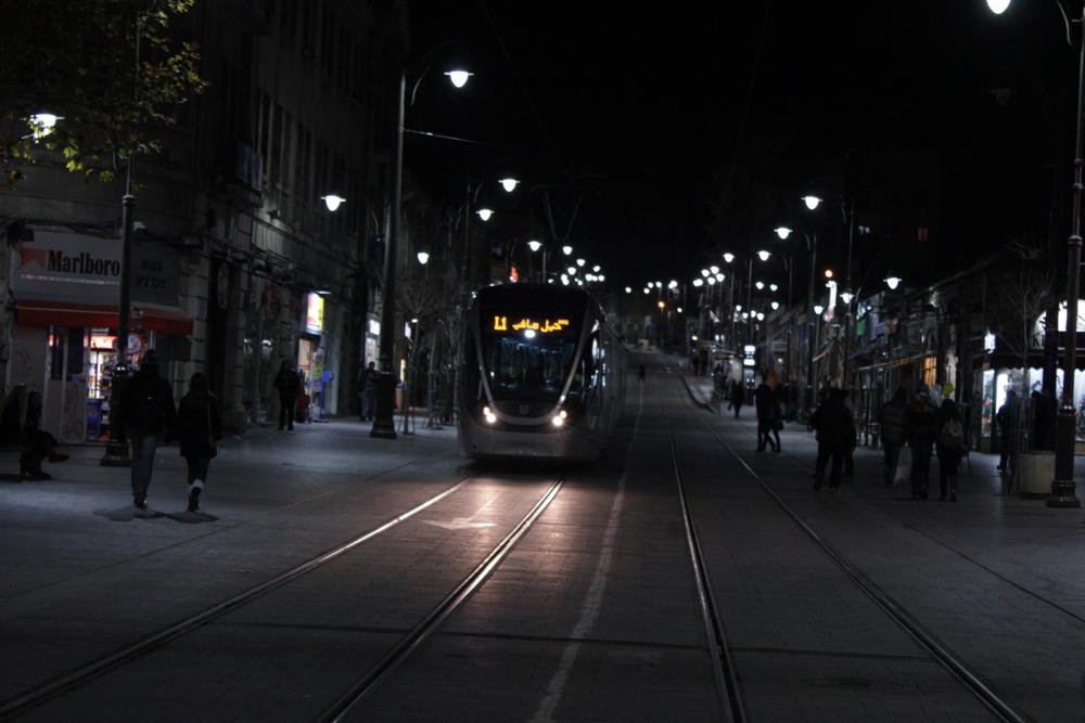 В центре вечернего Иерусалима