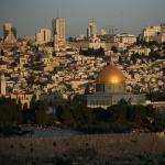 Храмовая гора и Старый город, вид с Масличной горы. Экскурсии по Иерусалиму, гид Арье Парнис