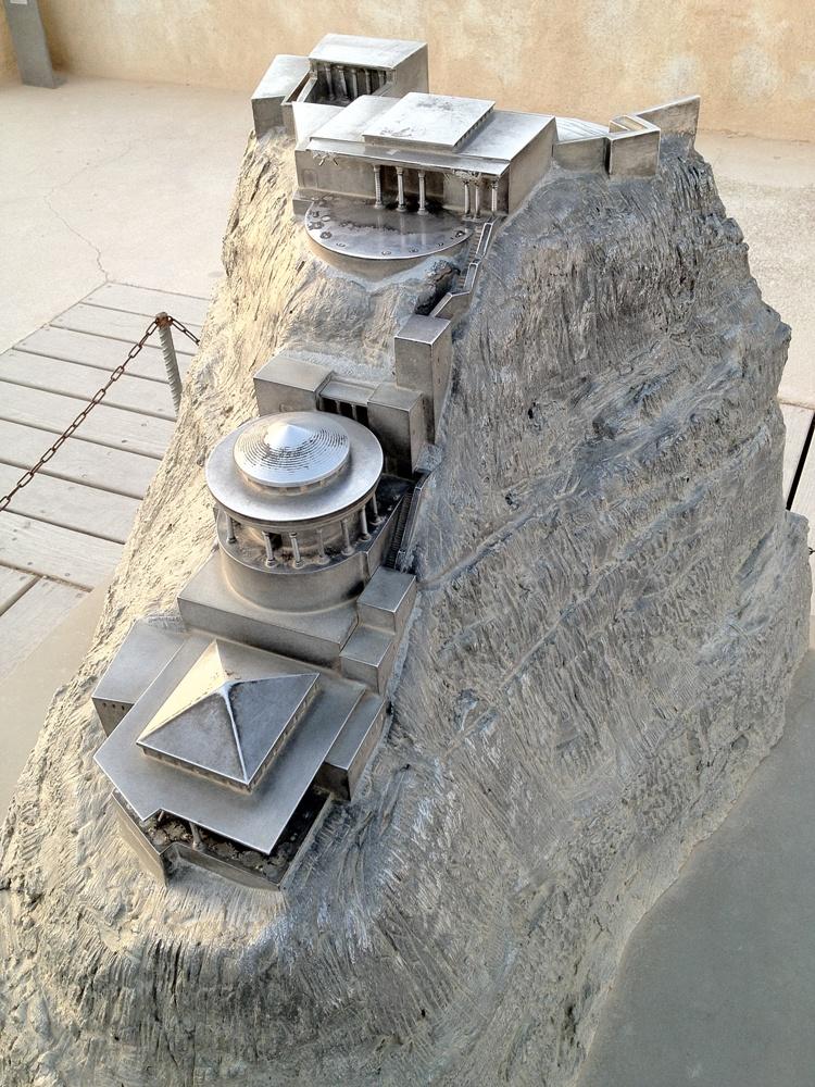 Макет северного дворца Ирода на Массаде