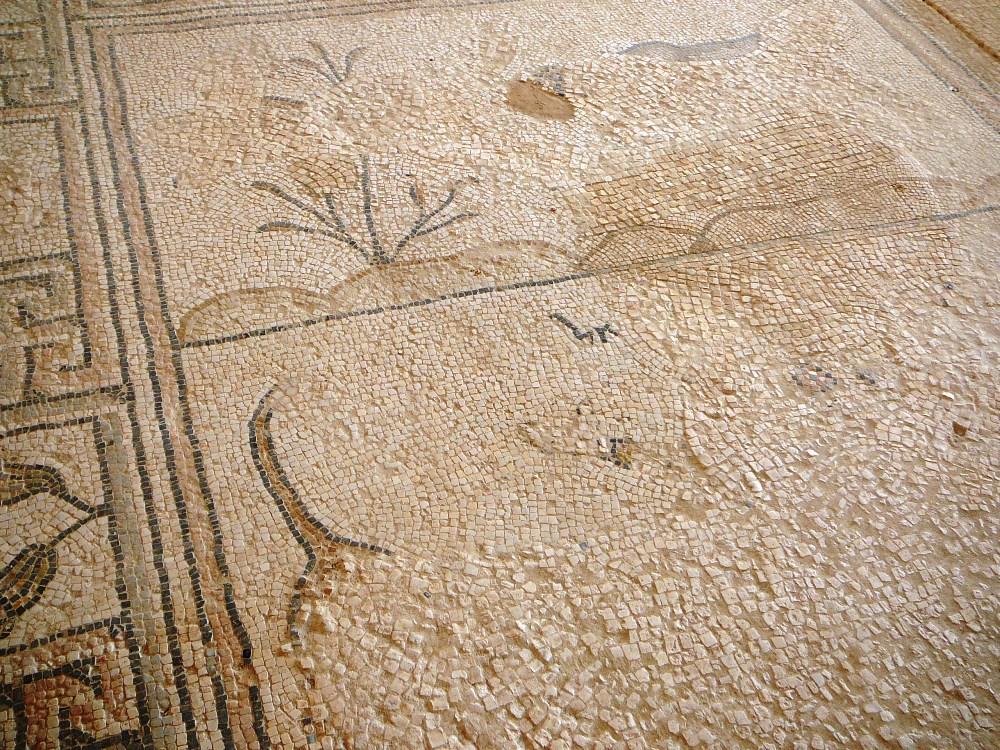 Сцена Даниэля в львином логове в синагоге Сусии