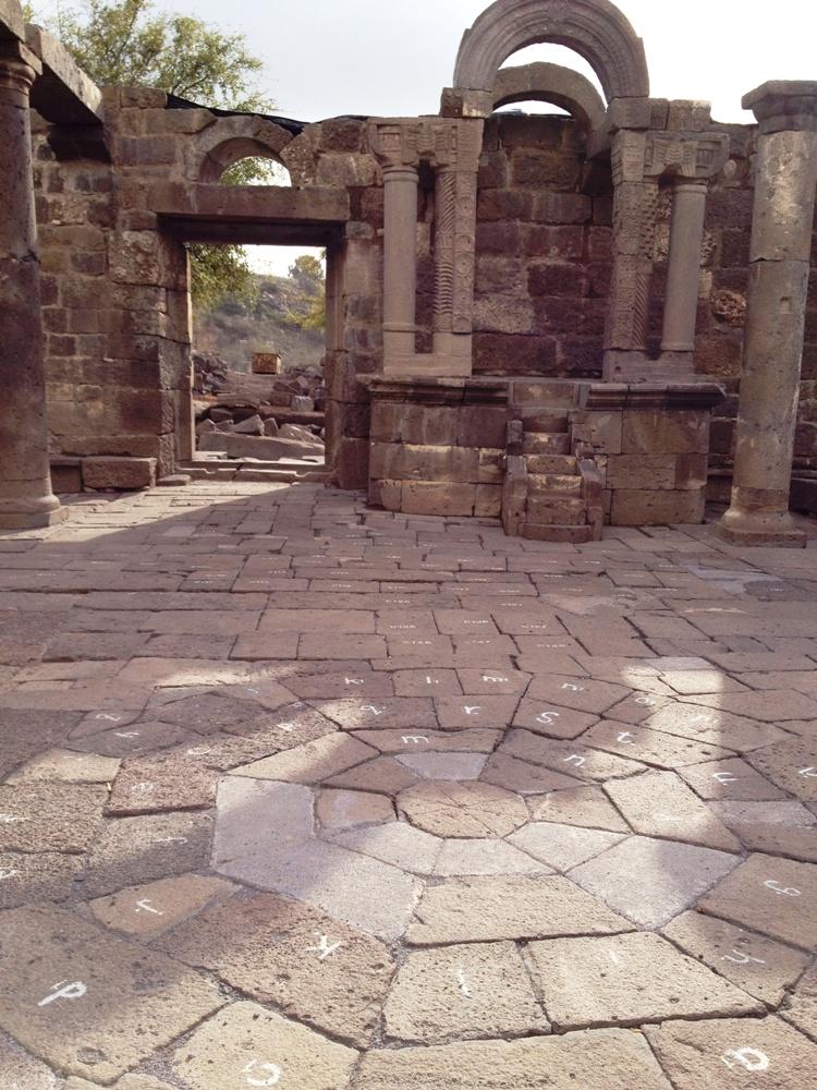 Орнамент пола синагоги