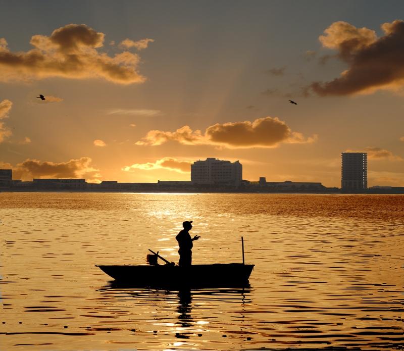 Рыбалка на восходе