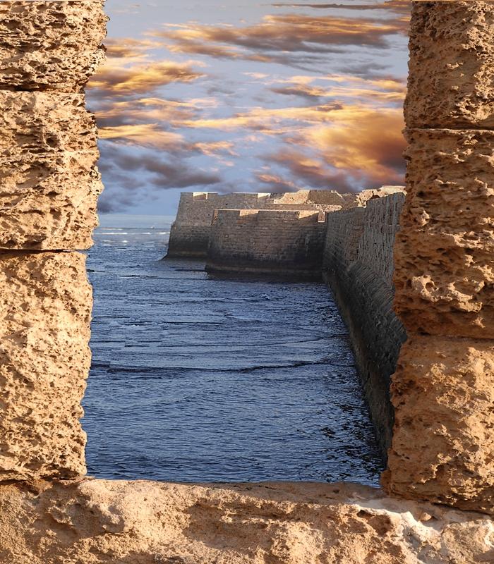 Форт Акко - морская стена