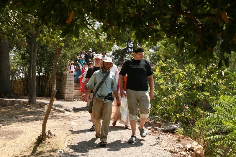 Путешествие по Цфату - возле руин крепости крестоносцев