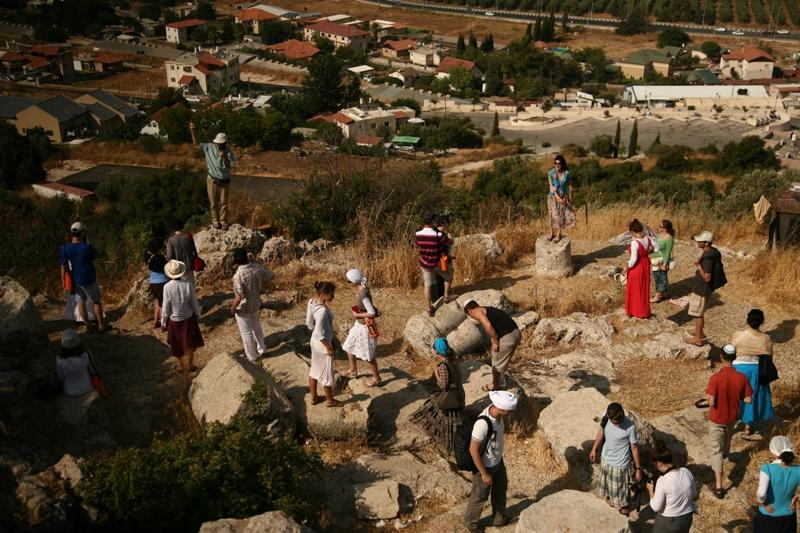 Руины древней синагоги в Мироне - времен Мишны и Талмуда