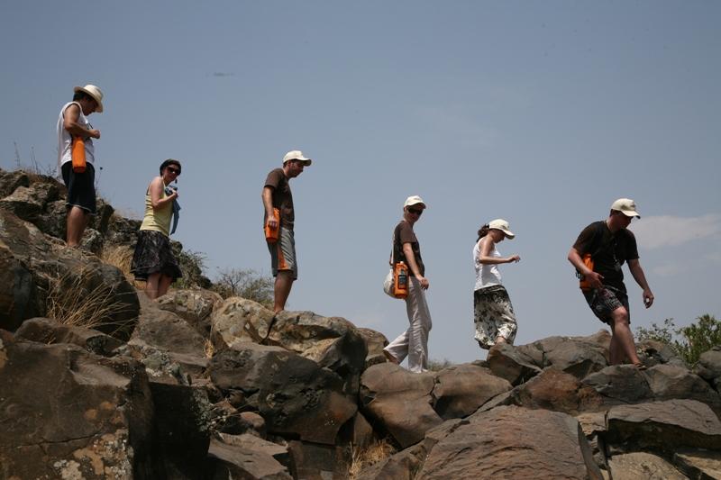 По базальтовым скалам Голанских высот