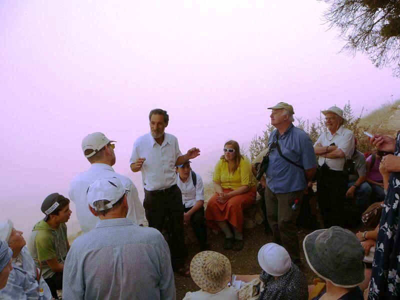 С Бени Кацовером на горе Кабир - возле Элон Море
