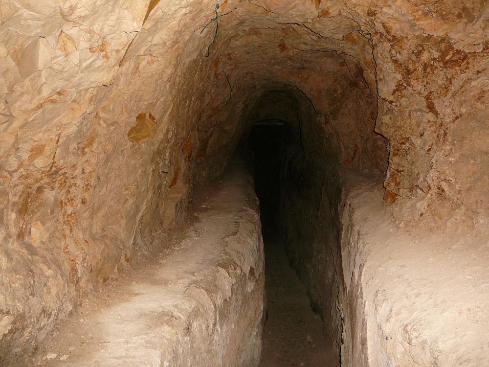 Туннель акведука Хасмонеев - 400 метров под землей, под горой Армон а-Нацив