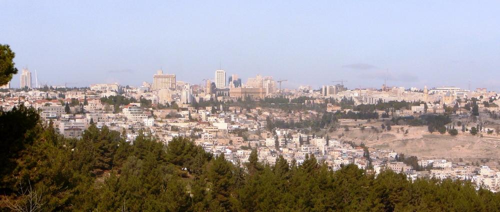 Вид на центр города - Западный Иерусалим
