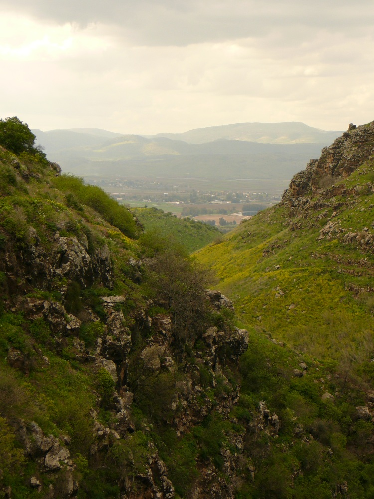 Вдали - Горы (колена) Нафтали и еврейские поселения в Долине а-Хула